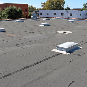 Modified bitumen (mod bit) roof